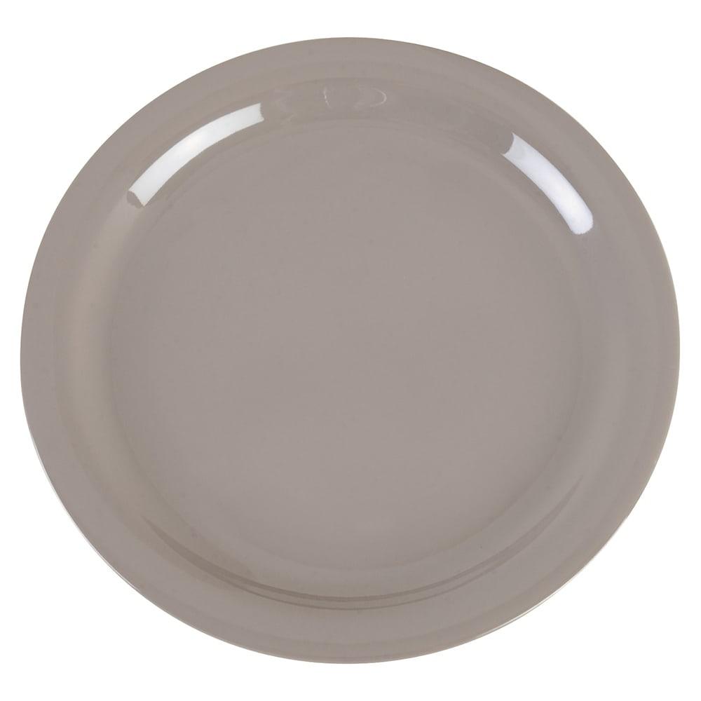 "Carlisle 4385231 9"" Round Dinner Plate, Melamine, Truffle"