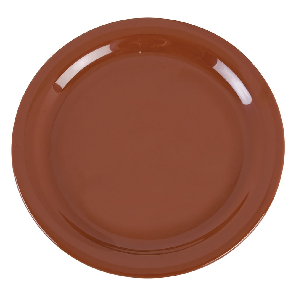 "Carlisle 4385243 9"" Round Dinner Plate, Melamine, Toffee"