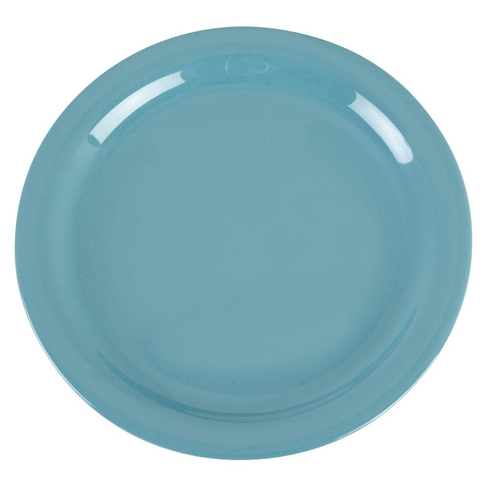 "Carlisle 4385263 9"" Round Dinner Plate, Melamine, Turquoise"