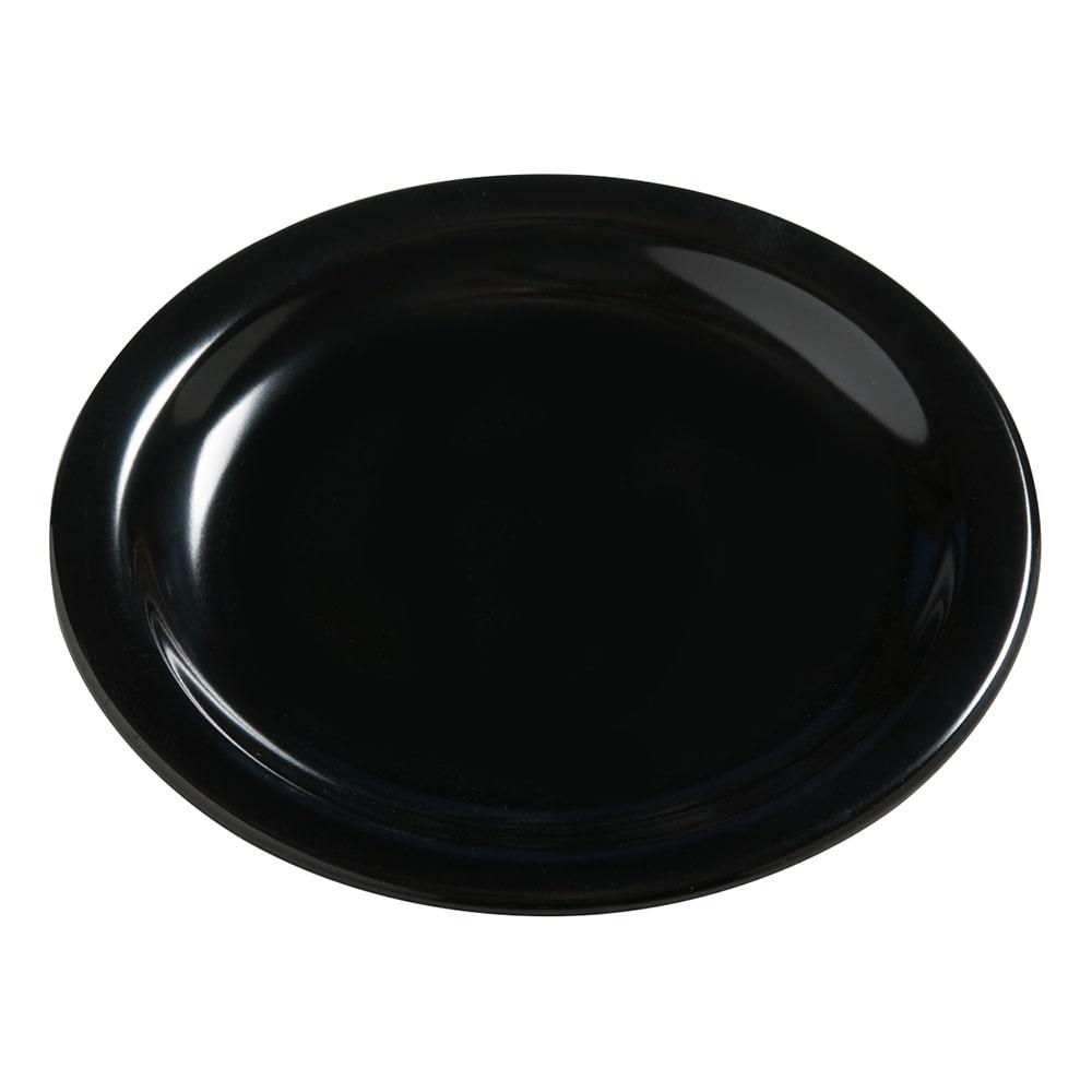 "Carlisle 4385403 7.25"" Round Dinner Plate, Melamine, Black"