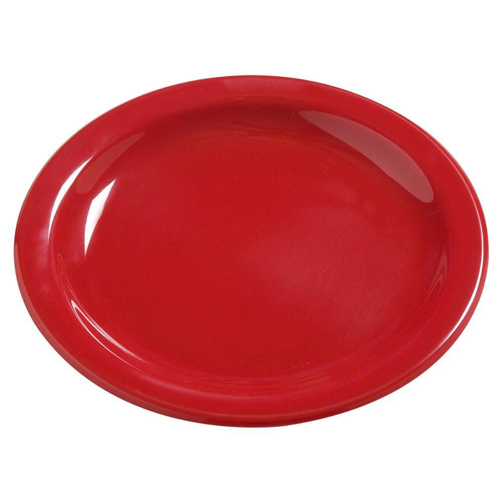 "Carlisle 4385405 7.25"" Round Dinner Plate, Melamine, Red"
