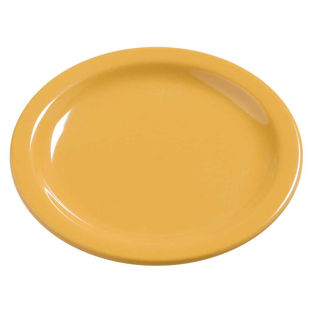 "Carlisle 4385422 7.25"" Round Dinner Plate, Melamine, Honey Yellow"