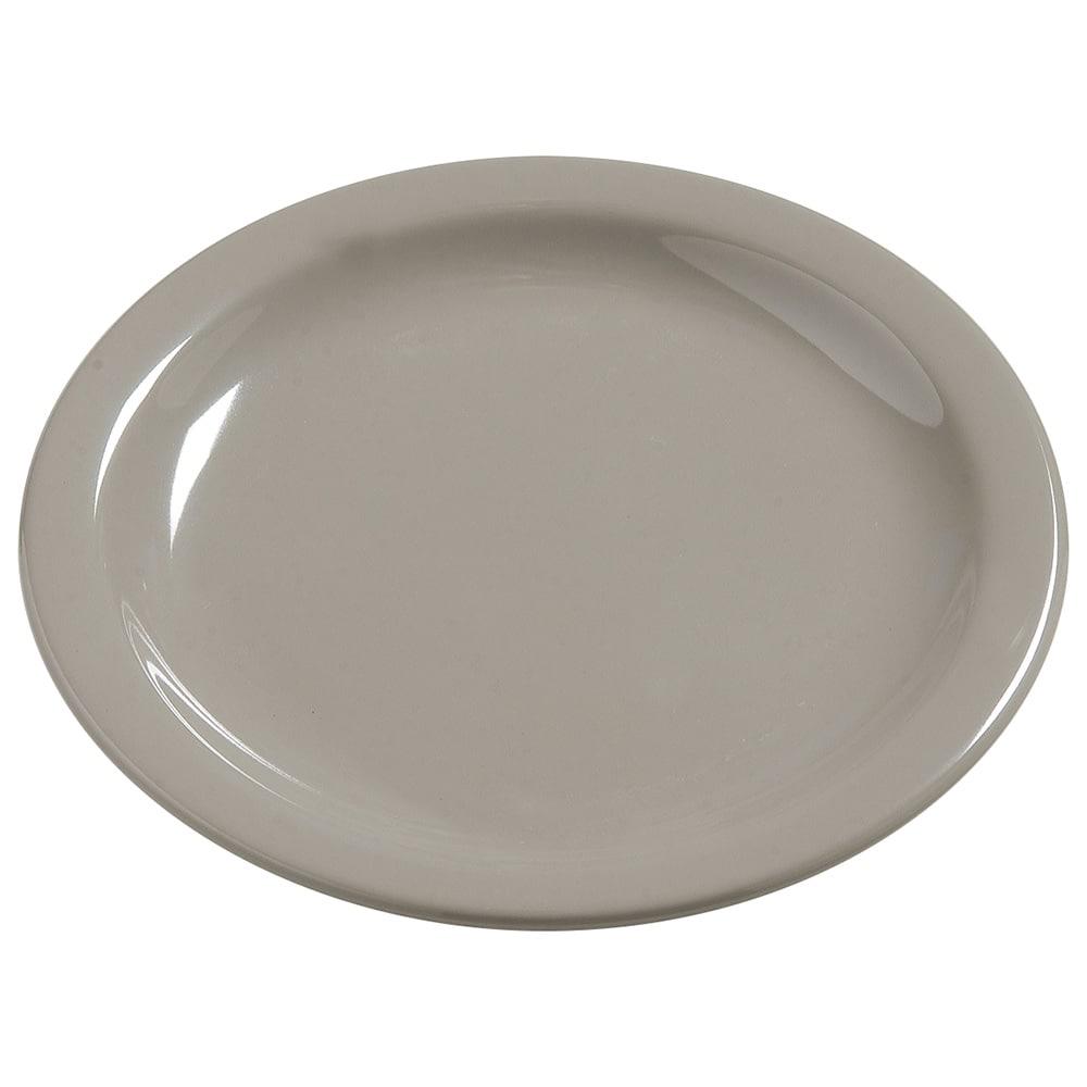 "Carlisle 4385431 7.25"" Round Dinner Plate, Melamine, Truffle"