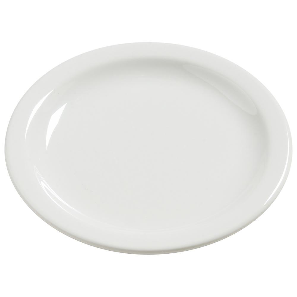 "Carlisle 4385437 7.25"" Round Dinner Plate, Melamine, Bavarian Cream"