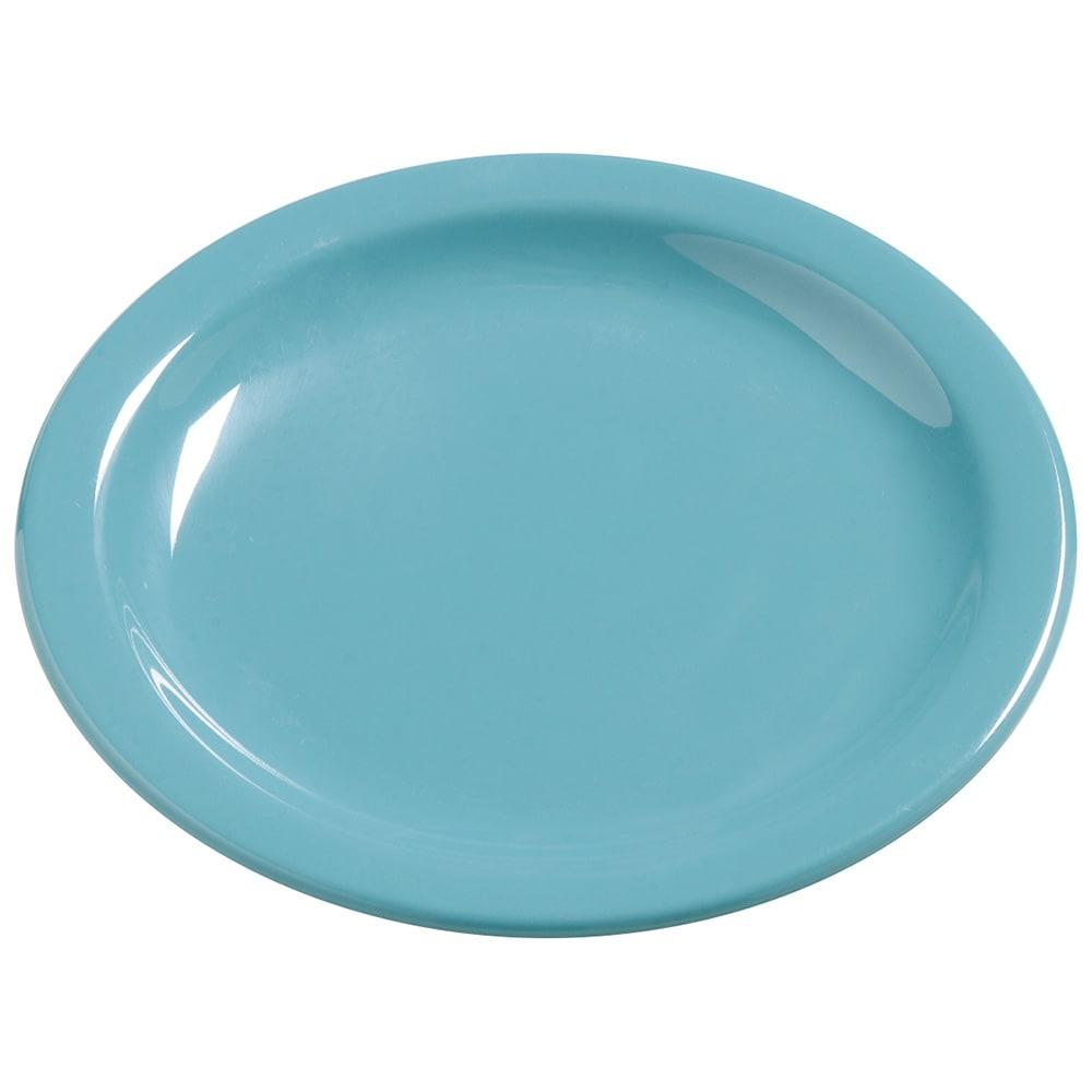 "Carlisle 4385463 7.25"" Round Dinner Plate, Melamine, Turquoise"