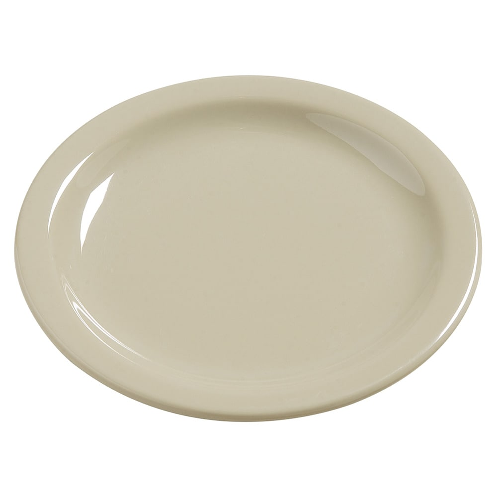"Carlisle 4385606 5.625"" Round Bread & Butter Plate, Melamine, Oatmeal"