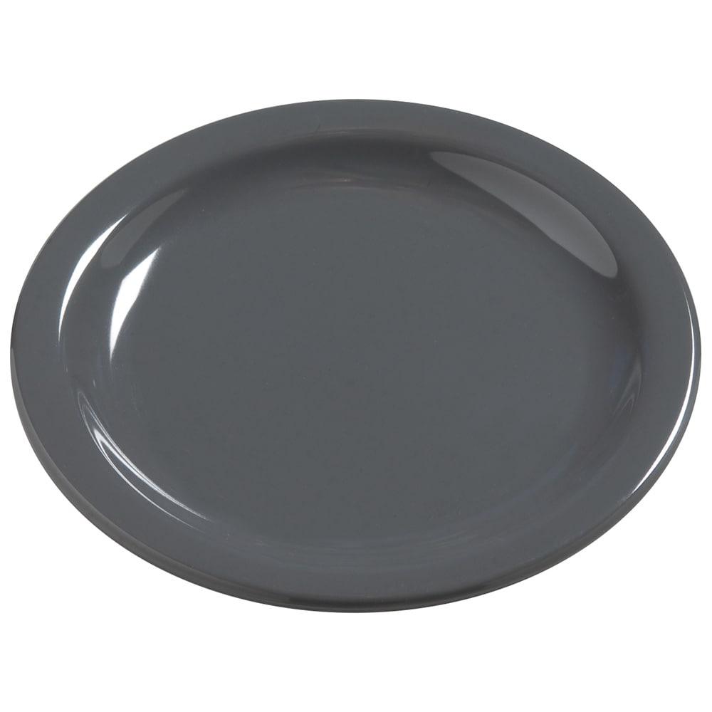 "Carlisle 4385640 5.625"" Round Bread & Butter Plate, Melamine, Peppercorn"