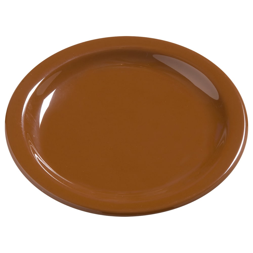 "Carlisle 4385643 5.625"" Round Bread & Butter Plate, Melamine, Toffee"