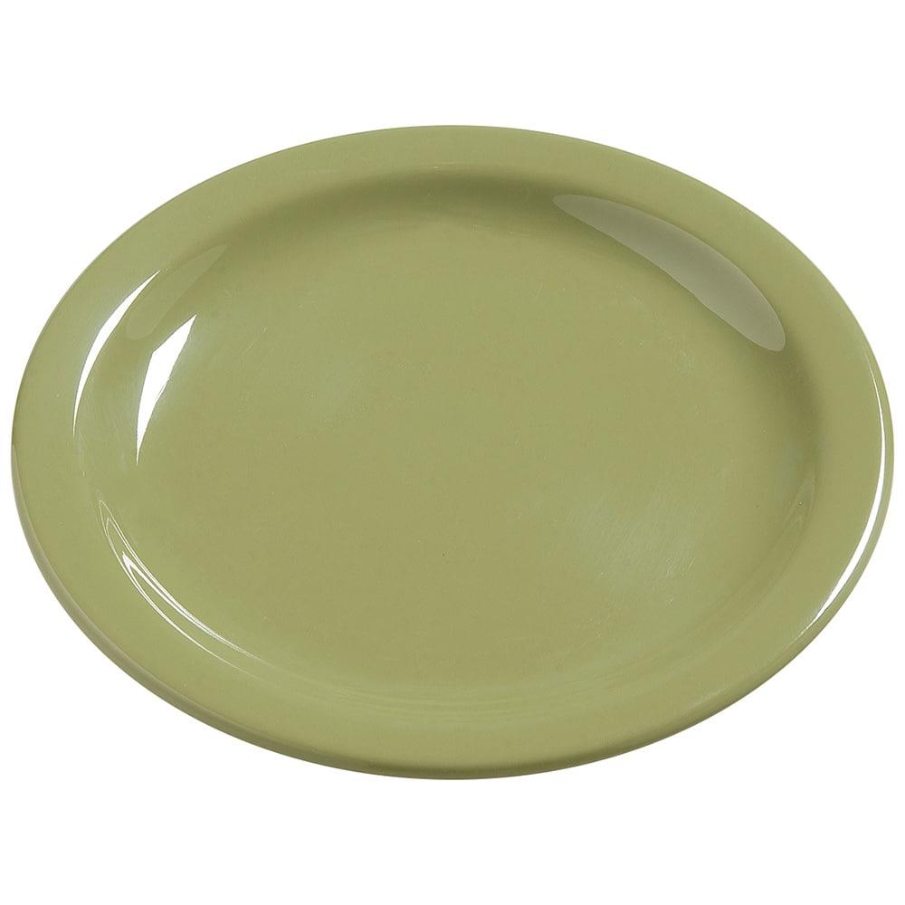 "Carlisle 4385682 5.625"" Round Bread & Butter Plate, Melamine, Wasabi"