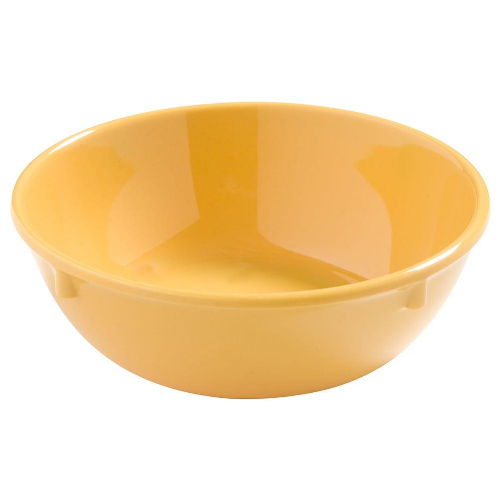 "Carlisle 4386222 5"" Round Nappie Bowl w/ 10-oz Capacity, Melamine, Honey Yellow"