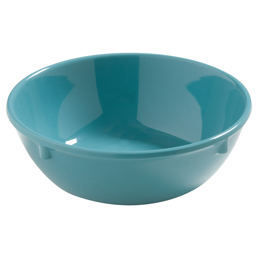 "Carlisle 4386263 5"" Round Nappie Bowl w/ 10-oz Capacity, Melamine, Turquoise"