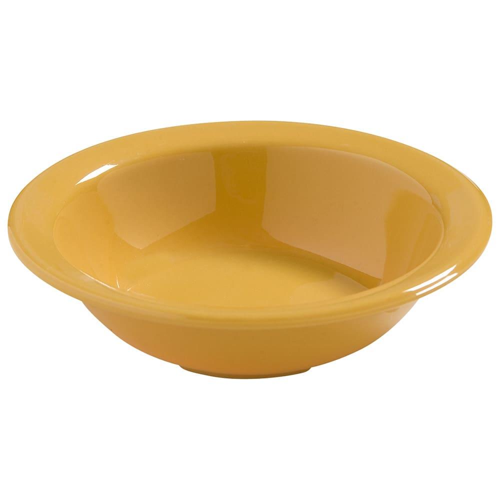 """Carlisle 4386622 4.5"""" Round Fruit Bowl w/ 4.75-oz Capacity, Melamine, Honey Yellow"""