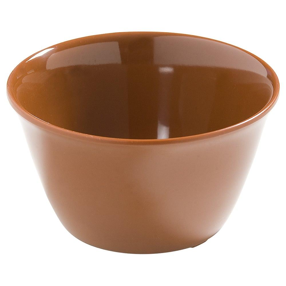 "Carlisle 4386843 3.75"" Round Bouillon Cup w/ 8-oz Capacity, Melamine, Toffee"