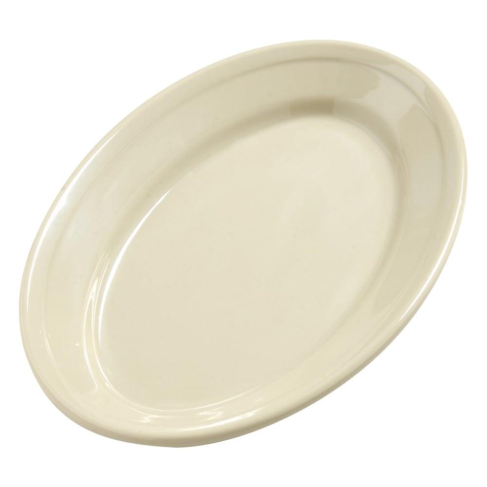 "Carlisle 4387206 Oval Platter - 9.25"" x 6.25"", Melamine, Oatmeal"