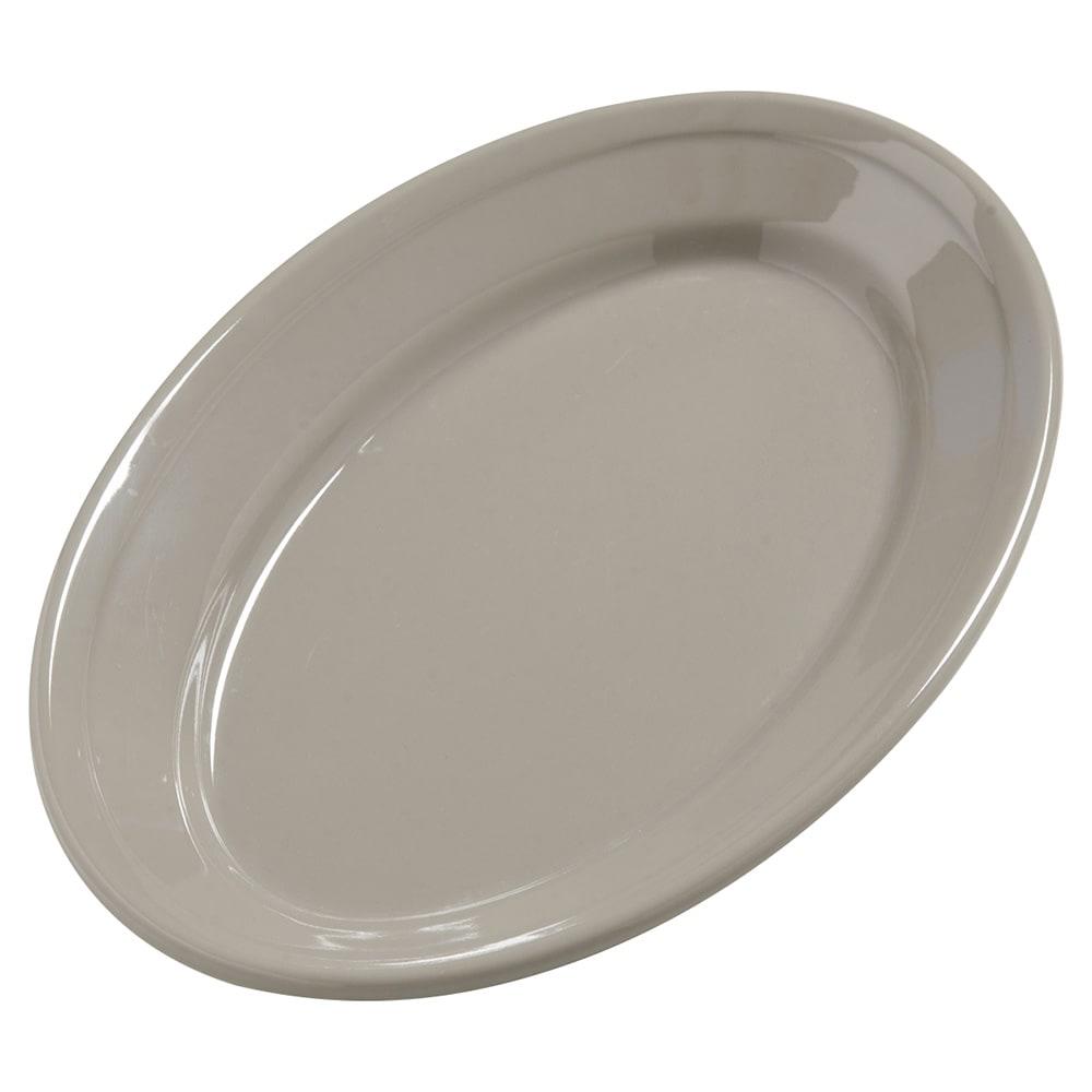 "Carlisle 4387231 Oval Platter - 9.25"" x 6.25"", Melamine, Truffle"