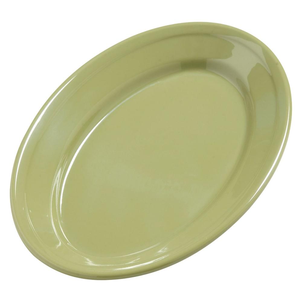 "Carlisle 4387282 Oval Platter - 9.25"" x 6.25"", Melamine, Wasabi"