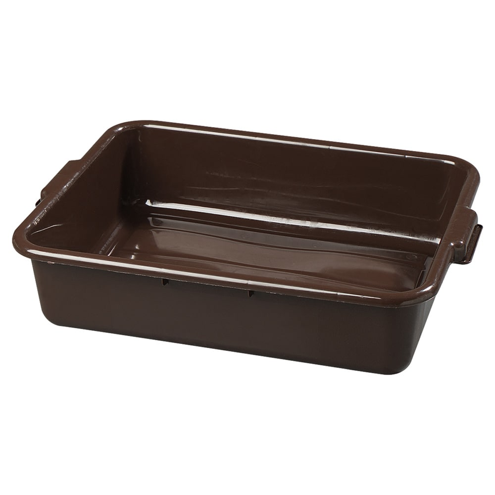 "Carlisle 4401001 Comfort Curve™ Bus Box - 20"" x 15"" x 5"", Brown"