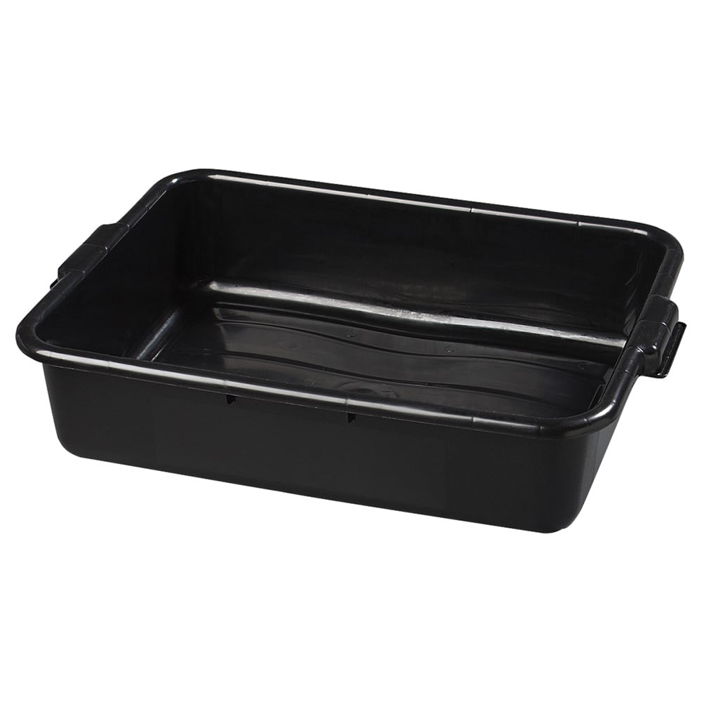 Carlisle 44010SKD03 Bus Box w/ (1) Compartment & Handles, Polyethylene, Black