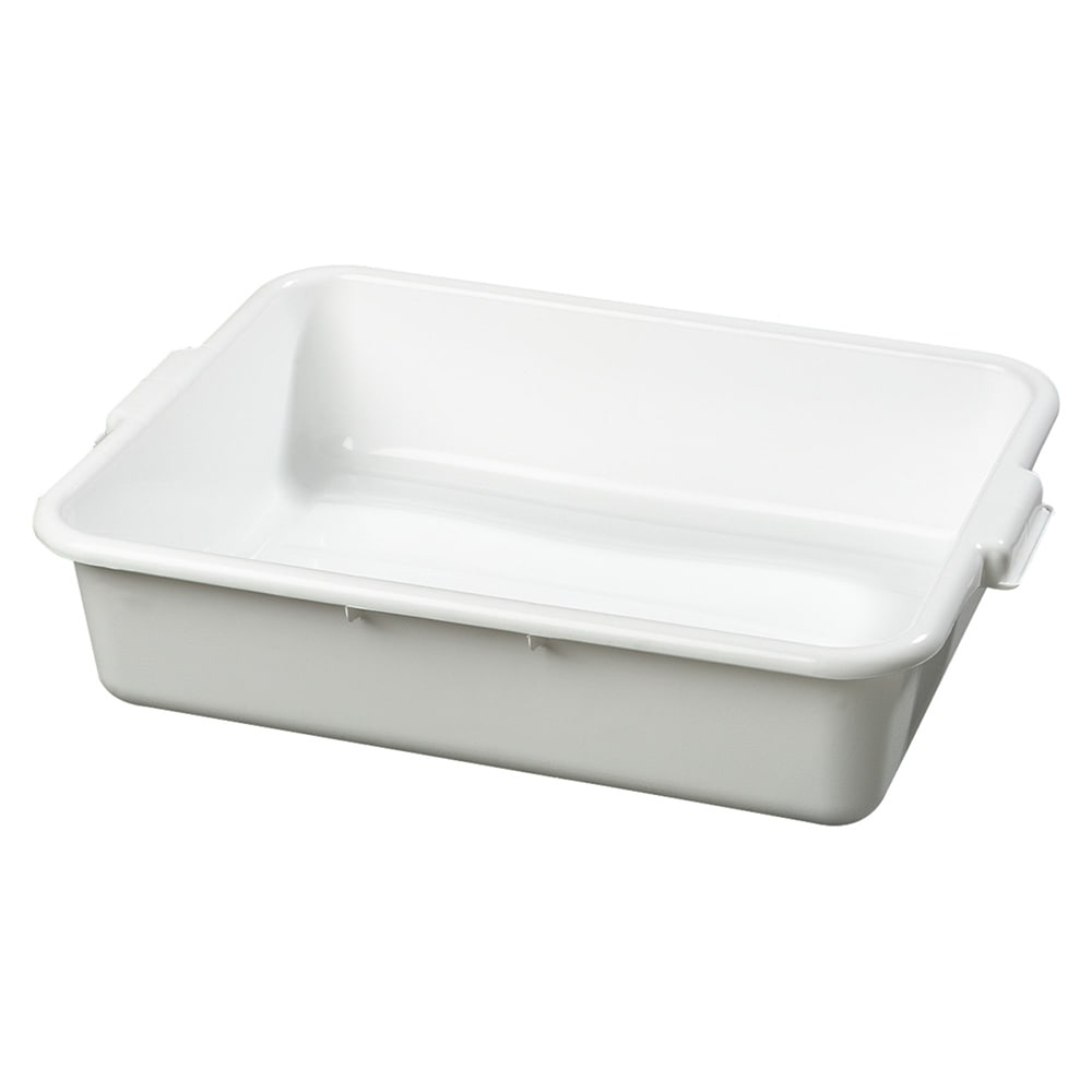 Carlisle 4401002 Bus Box w/ (1) Compartment & Handles, Polyethylene, White