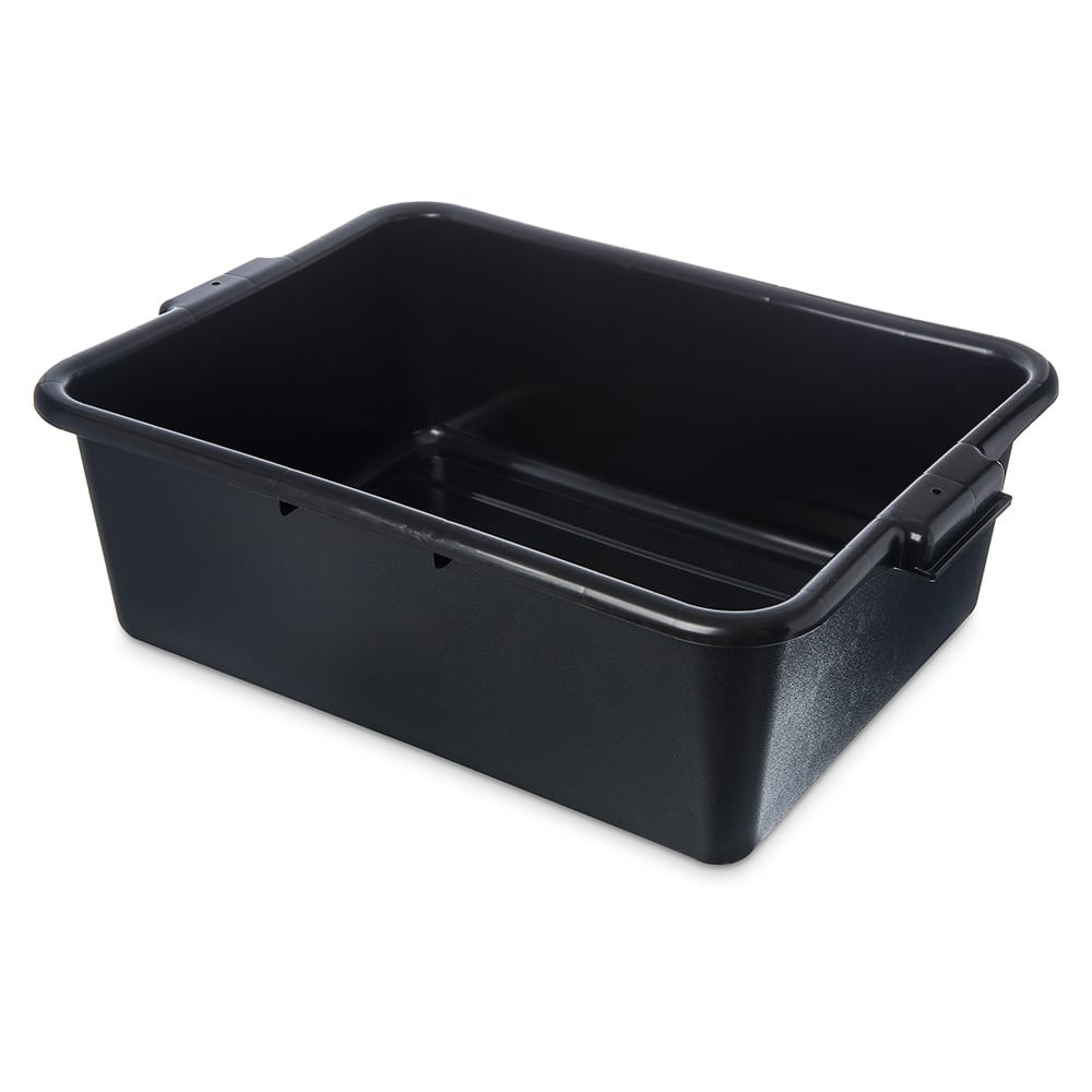Carlisle 4401103 Bus Box w/ (1) Compartment & Handles, Polyethylene, Black