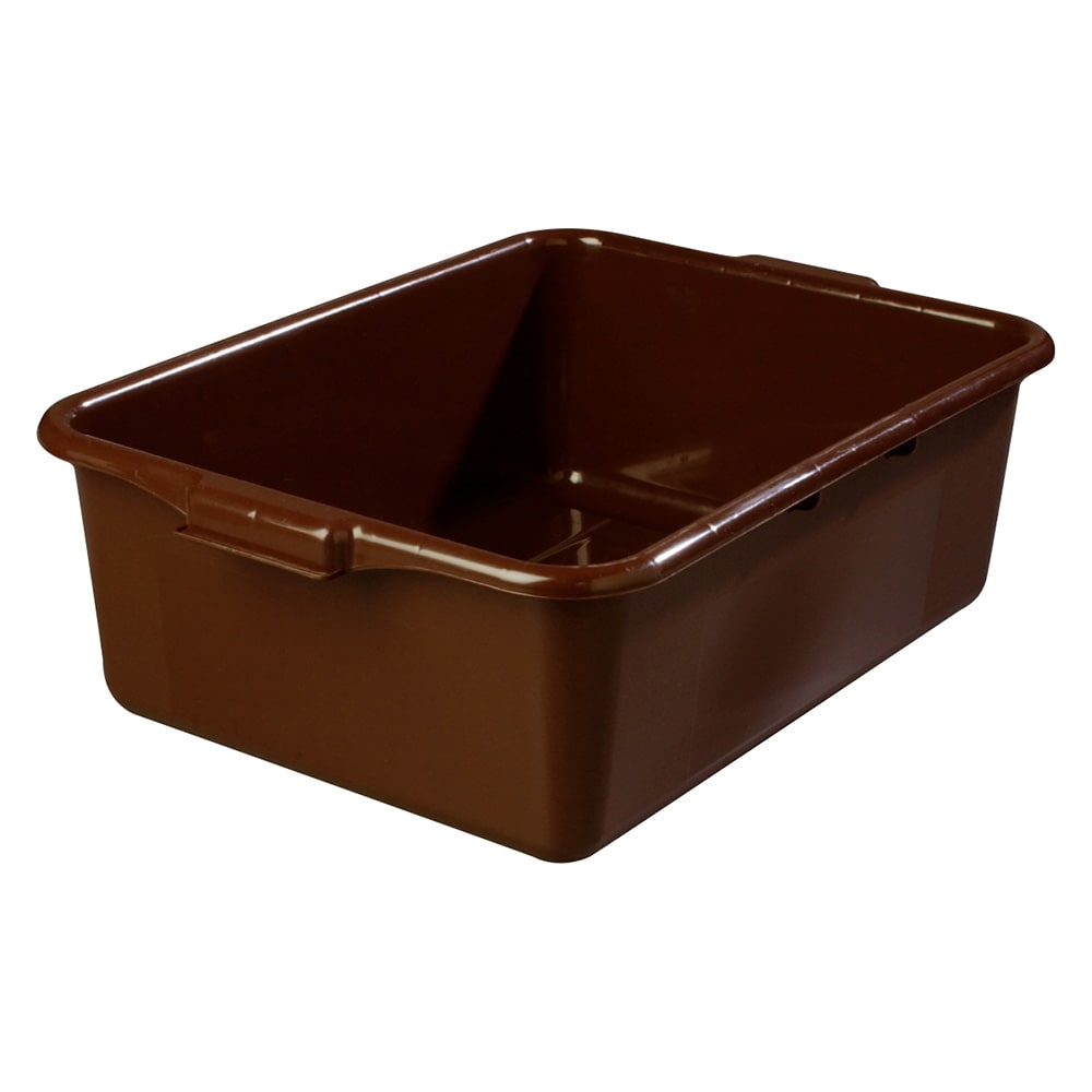 Carlisle 4401101 Bus Box w/ (1) Compartment & Handles, Polyethylene, Brown