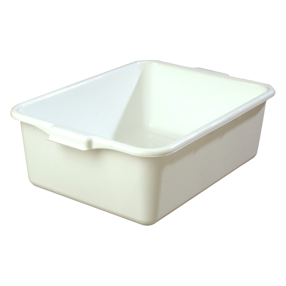 Carlisle 4401102 Bus Box w/ (1) Compartment & Handles, Polyethylene, White