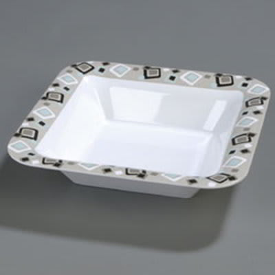 "Carlisle 44403919 14"" Square Bowl - Melamine, Modern Squares"