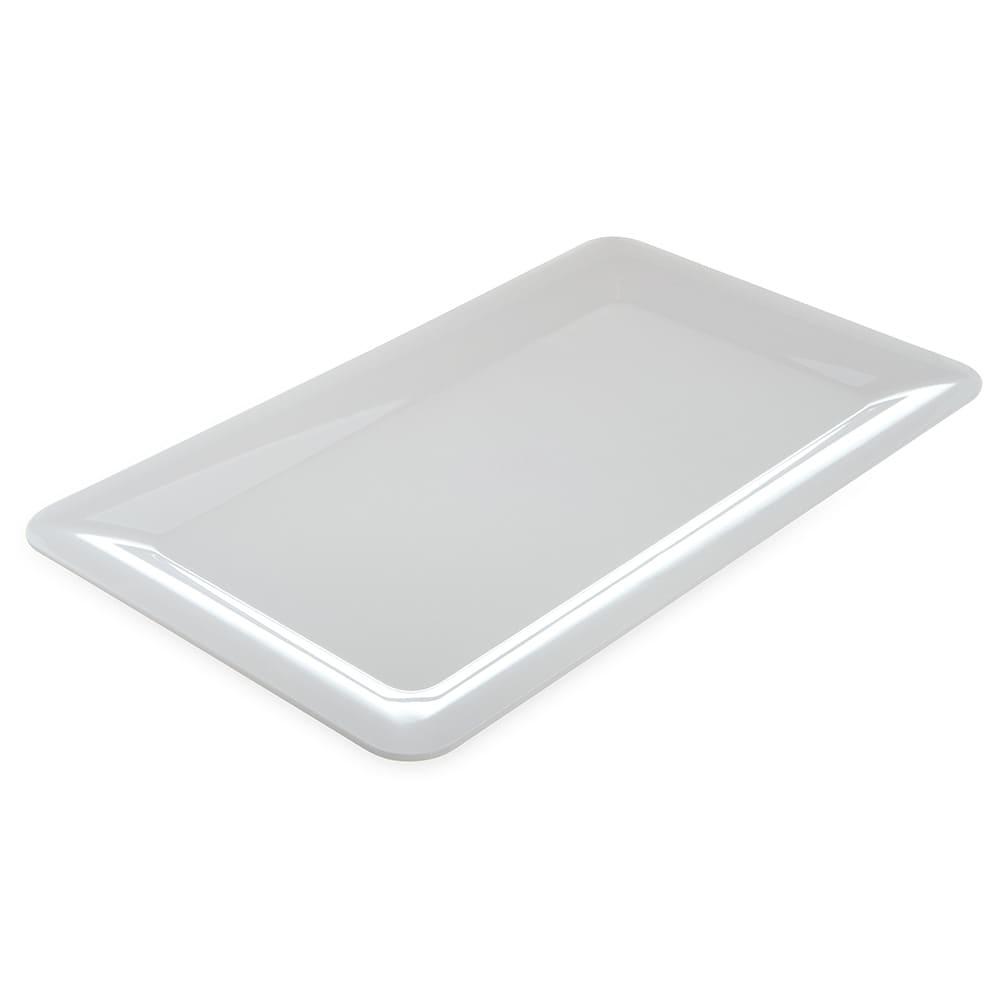 "Carlisle 4442002 Full Size Food Pan - 1""D, Melamine, White"