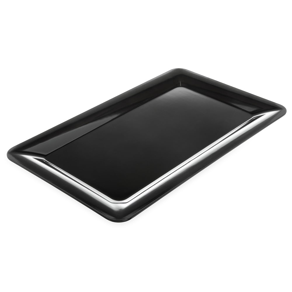 "Carlisle 4442003 Full Size Food Pan - 1""D, Melamine, Black"