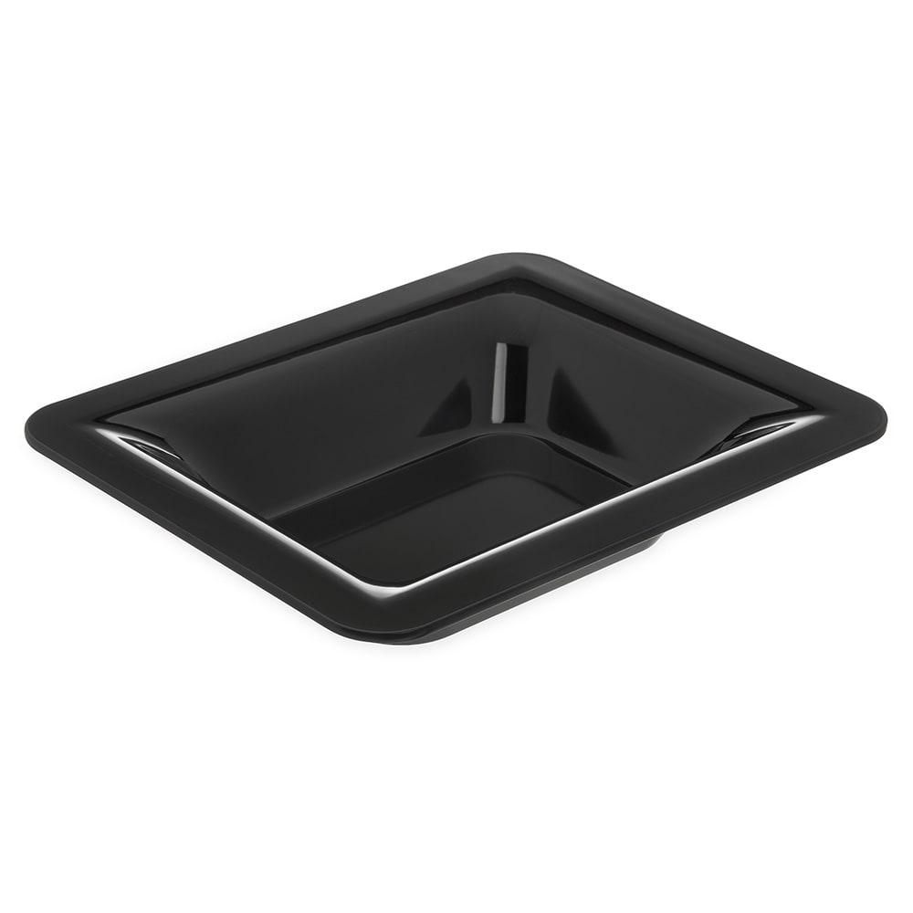 "Carlisle 4443203 Half Size Food Pan - 2.5""D, Melamine, Black"