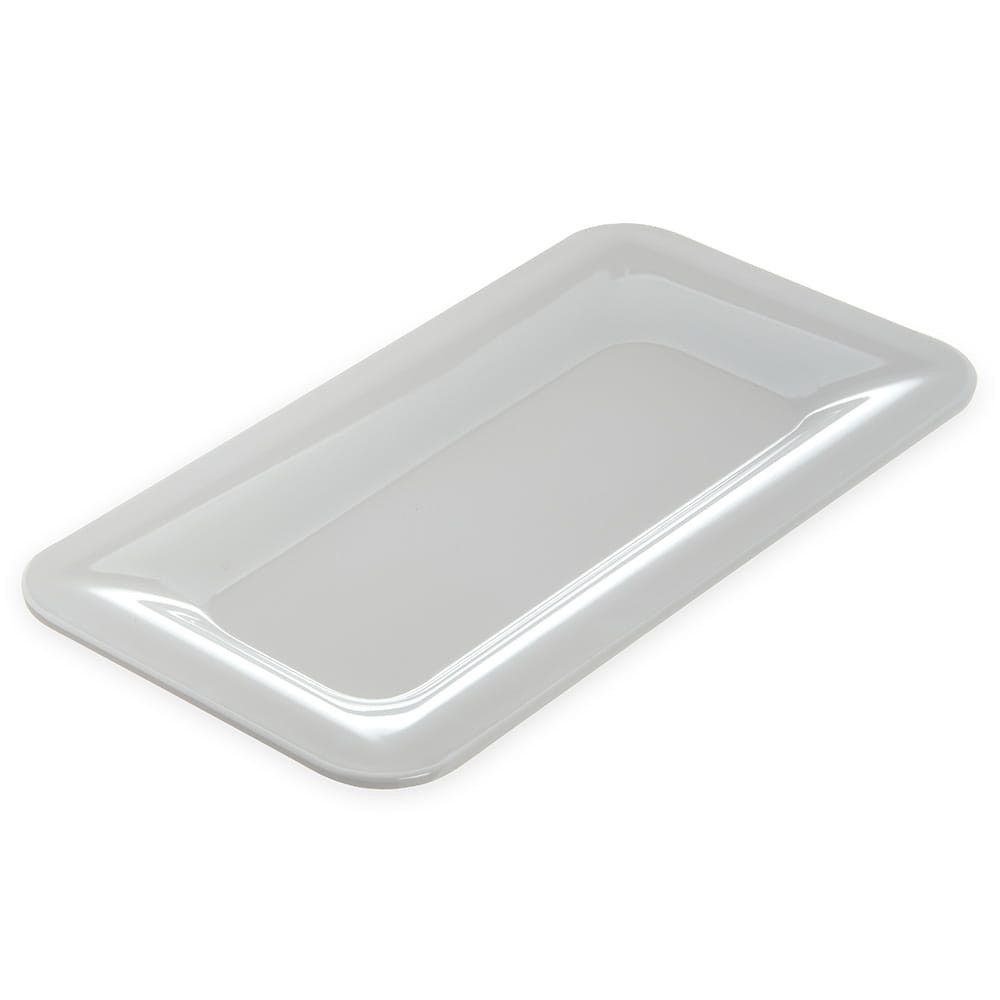 "Carlisle 4446002 Third Size Food Pan - 1""D, Melamine, White"