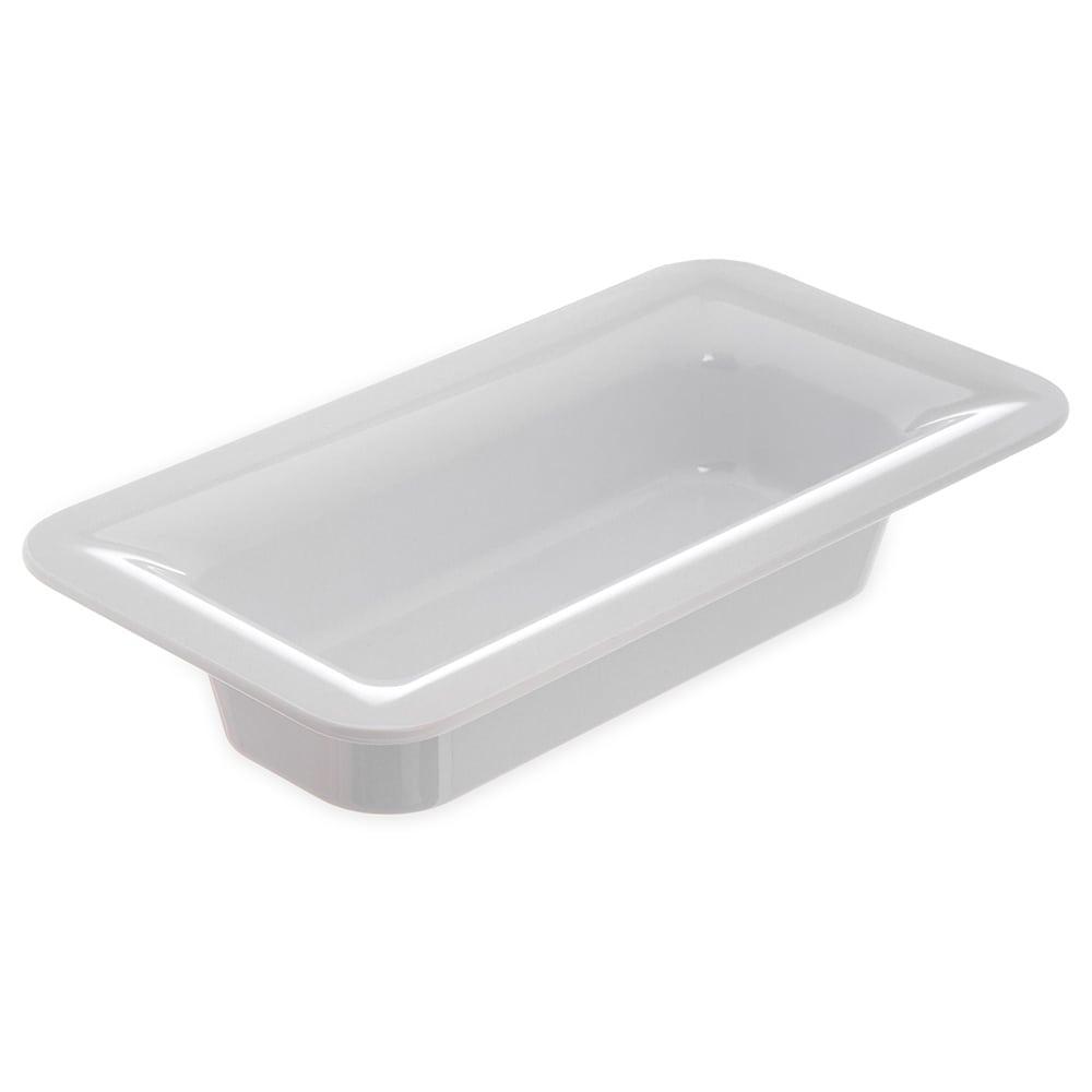 "Carlisle 4446202 Third Size Food Pan - 2.5""D, Melamine, White"