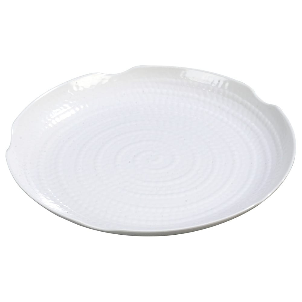 "Carlisle 4451402 14"" Round Platter - Melamine, White"