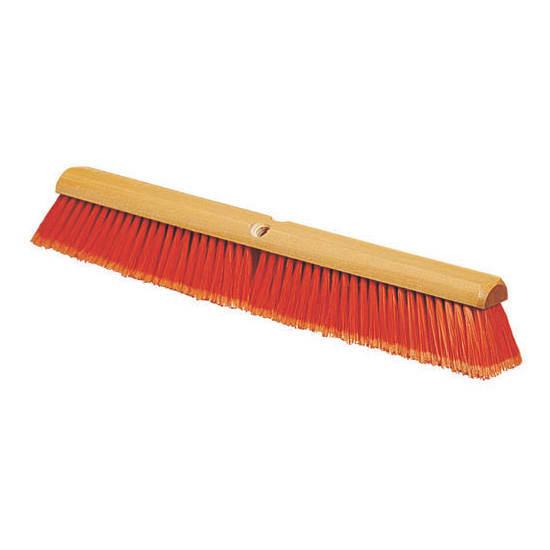 "Carlisle 4501324 18"" Push Broom Head w/ Polypropylene Bristles, Orange"