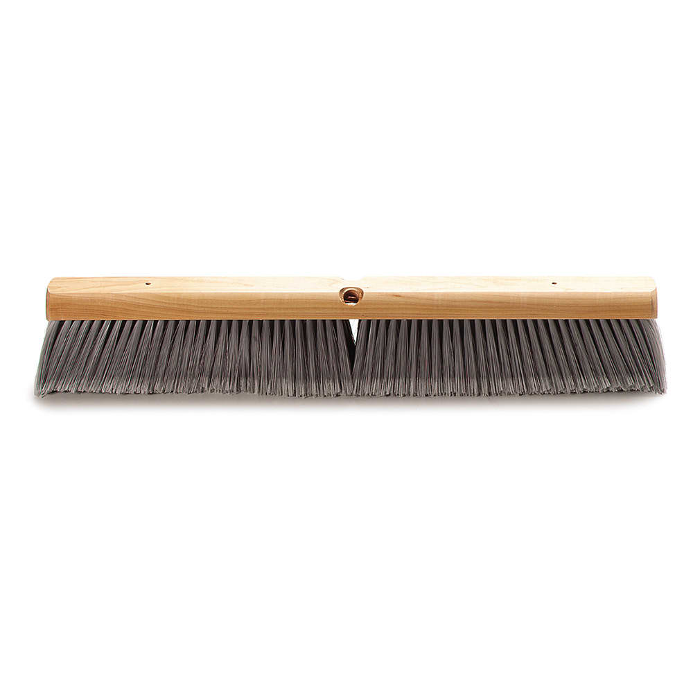 "Carlisle 4501423 24"" Push Broom Head w/ Polypropylene Bristles, Gray"