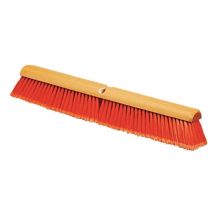 """Carlisle 4501624 36"""" Floor Sweep - Fine, Hardwood/Polypropylene, Orange"""