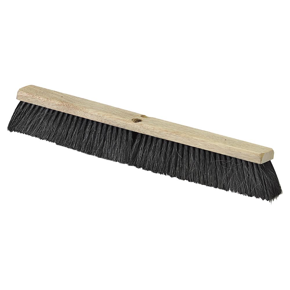 "Carlisle 4504103 24"" Push Broom Head w/ Tampico & Horsehair Bristles, Black"