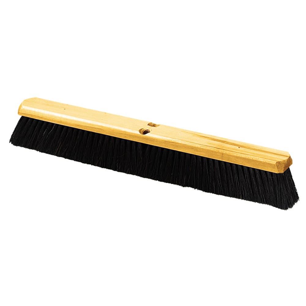 "Carlisle 4513600 24"" Push Broom Head w/ Tampico Bristles, Black"