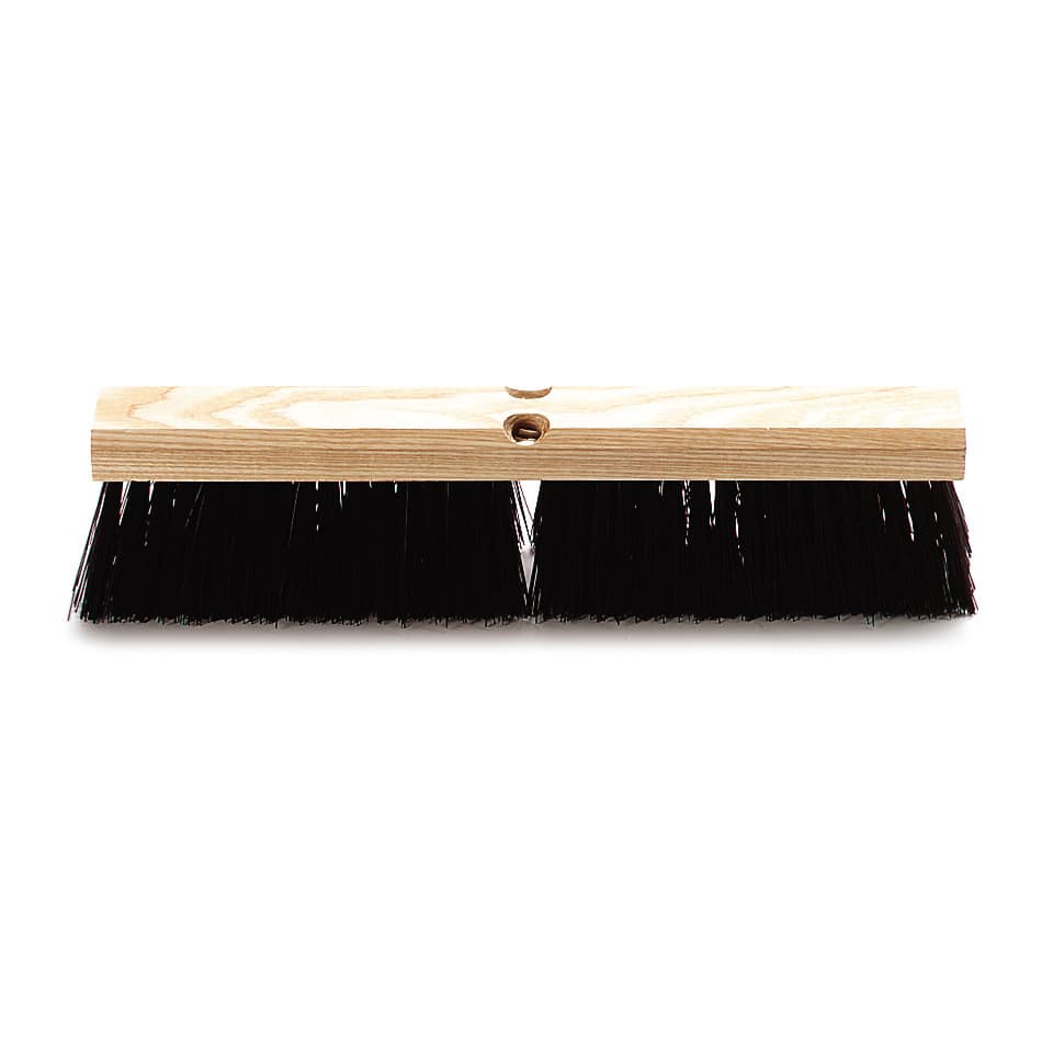 "Carlisle 4520101 18"" Push Broom Head w/ Polypropylene Bristles, Maroon"