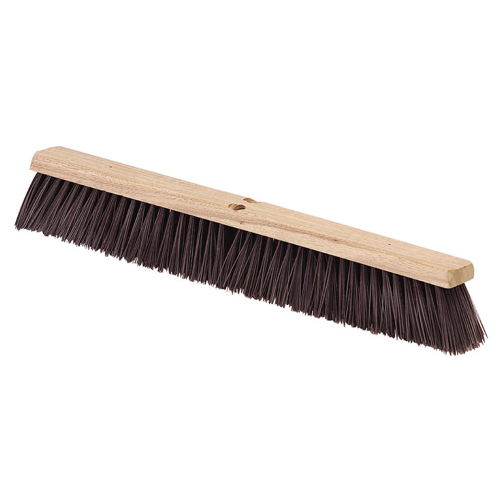 "Carlisle 4520201 24"" Push Broom Head w/ Polypropylene Bristles, Maroon"
