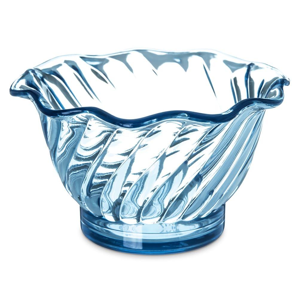 "Carlisle 453054 3.75"" Round Tulip Dessert Dish w/ 5 oz Capacity, Plastic, Ice Blue"