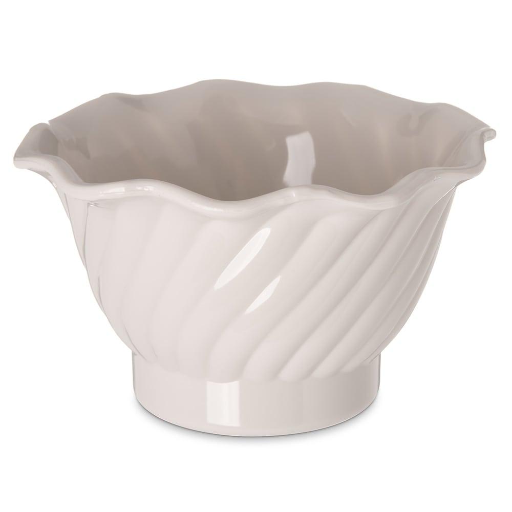 """Carlisle 453042 3.75"""" Round Tulip Dessert Dish w/ 5 oz Capacity, Plastic, Bone"""