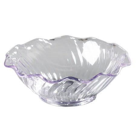 Carlisle 4531-807 5-oz Tulip Berry Dish - (12/Pk) Scalloped Edging, Clear