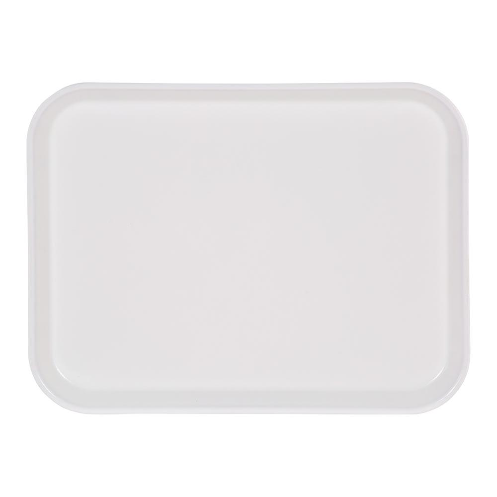 "Carlisle 4532FG001 Rectangular Cafeteria Tray - 17.72"" x 12.6"", Fiberglass, Bone White"