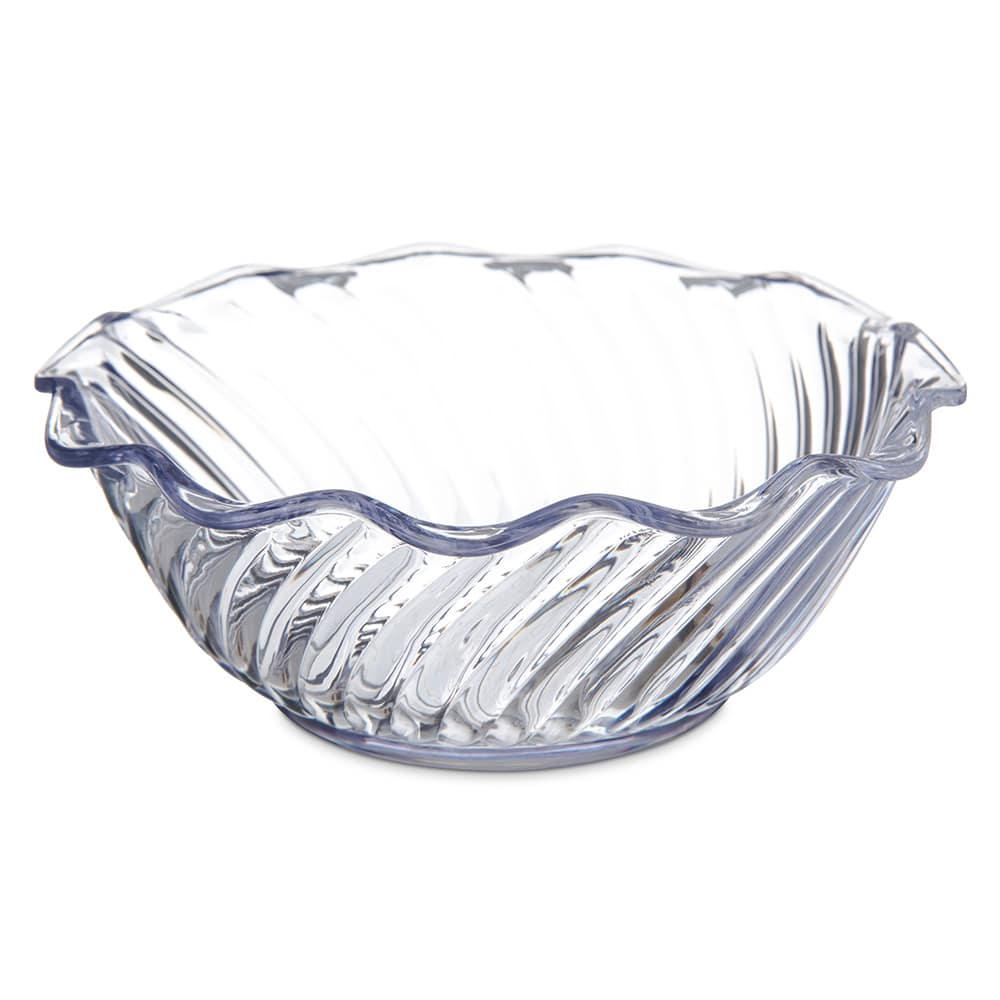 "Carlisle 453307 5.5"" Round Tulip Bowl w/ 13 oz Capacity, Polycarbonate, Clear"