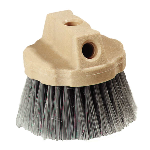 "Carlisle 4535023 4.5"" Round Window Brush w/ Polypropylene Bristles, Gray"