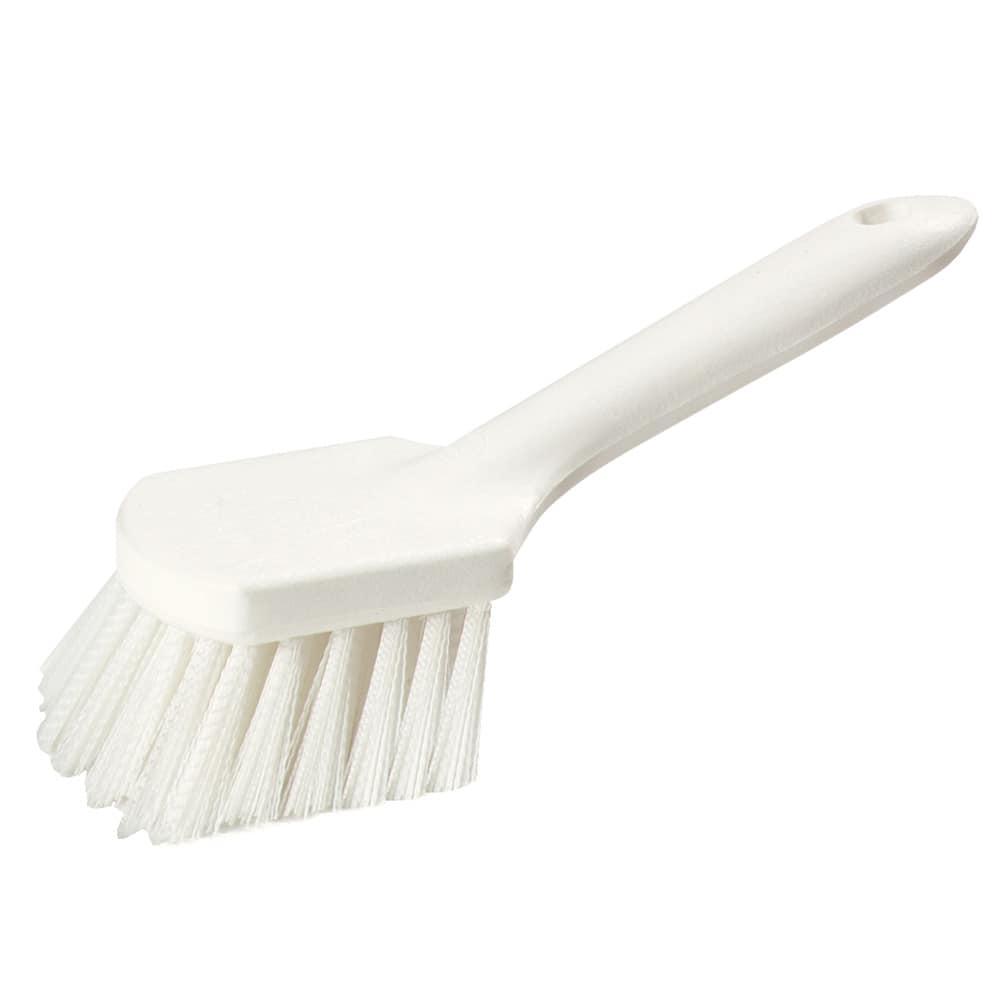 "Carlisle 4547202 9.25"" Utility Scrub Brush w/ Polystyrene Bristles, White"