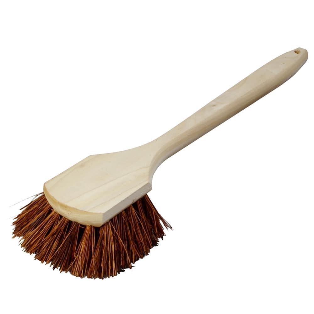 "Carlisle 4549300 20""L Utility Scrub Brush w/ Palmyra Bristles, Standard"