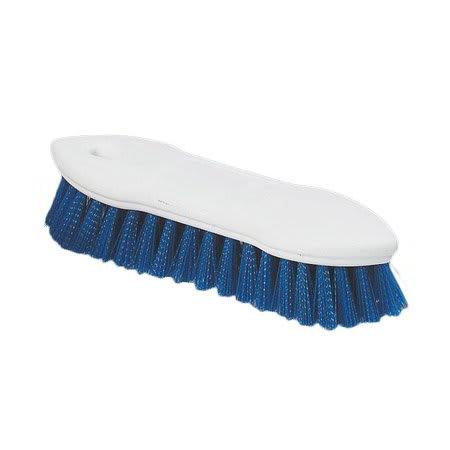 "Carlisle 4549414 8"" Scrub Brush w/ Polyester Bristles, Blue"