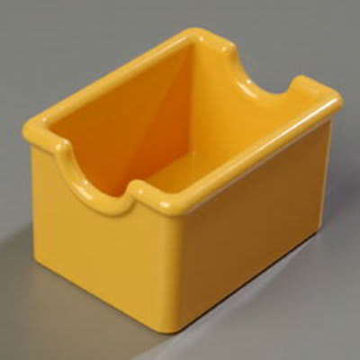 Carlisle 455022 Sugar Packet Caddy, Holds 20 Packets, Plastic, Honey Yellow